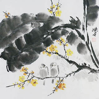 Chinese Plum Blossom Painting,50cm x 50cm,2407012-x