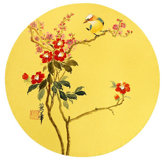Chinese Plum Blossom Painting,34cm x 34cm,2485070-x