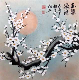 Chinese Plum Blossom Painting,62cm x 62cm,2545030-x