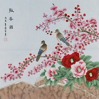 Chinese Plum Blossom Painting,68cm x 68cm,2547016-x