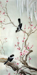 Chinese Plum Blossom Painting,66cm x 130cm,2601005-x