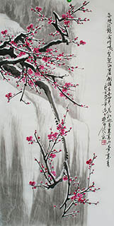 Chinese Plum Blossom Painting,50cm x 100cm,ms21139006-x