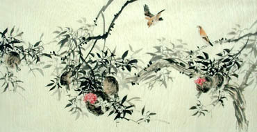 Chinese Pomegranate Painting,66cm x 136cm,2322021-x