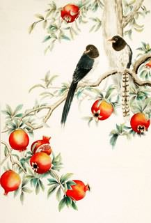 Chinese Pomegranate Painting,92cm x 150cm,2340093-x