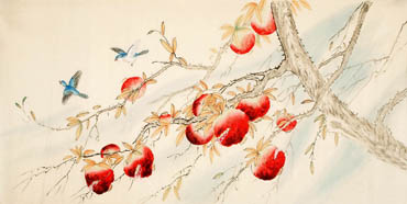 Chinese Pomegranate Painting,66cm x 130cm,2340094-x