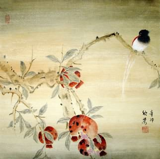 Chinese Pomegranate Painting,50cm x 50cm,2395019-x