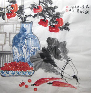 Chinese Qing Gong Painting,68cm x 68cm,2024009-x