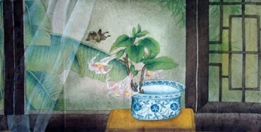 Chinese Qing Gong Painting,50cm x 100cm,2319063-x