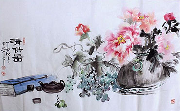 Chinese Qing Gong Painting,50cm x 100cm,2347004-x