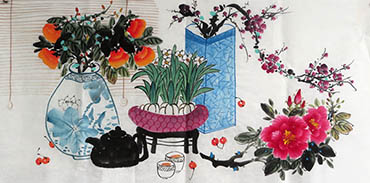 Chinese Qing Gong Painting,50cm x 100cm,2350001-x