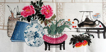 Chinese Qing Gong Painting,50cm x 100cm,2350004-x