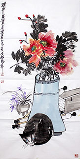 Chinese Qing Gong Painting,68cm x 136cm,2371025-x