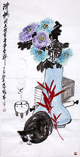 Chinese Qing Gong Painting,68cm x 136cm,2371027-x