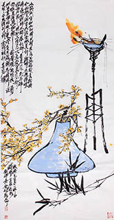 Chinese Qing Gong Painting,68cm x 136cm,2371029-x