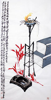 Chinese Qing Gong Painting,68cm x 136cm,2371031-x