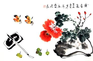 Chinese Qing Gong Painting,43cm x 65cm,2437028-x