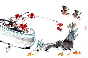 Chinese Qing Gong Painting,43cm x 65cm,2437029-x