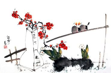Chinese Qing Gong Painting,43cm x 65cm,2437030-x