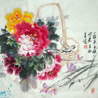 Chinese Qing Gong Painting,69cm x 69cm,2695030-x