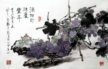 Chinese Qing Gong Painting,69cm x 46cm,2711096-x