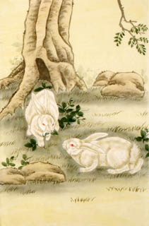 Chinese Rabbit Painting,69cm x 46cm,4680004-x