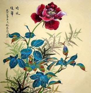 Chinese Rose Painting,50cm x 50cm,2419001-x
