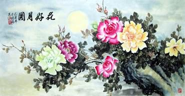Chinese Rose Painting,66cm x 120cm,2473006-x