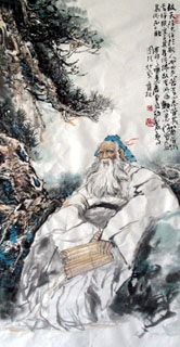 Chinese Sages Painting,69cm x 138cm,3447014-x
