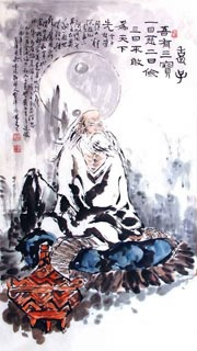 Chinese Sages Painting,66cm x 136cm,3546050-x