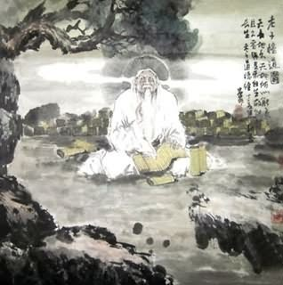 Chinese Sages Painting,69cm x 69cm,3688002-x