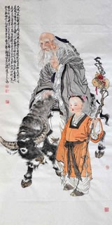 Chinese Sages Painting,66cm x 136cm,3776053-x