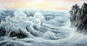 Chinese Sea Painting,97cm x 180cm,1047014-x
