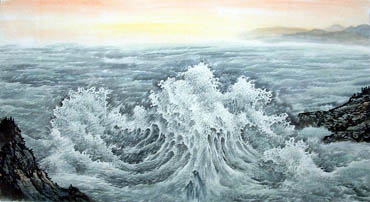 Chinese Sea Painting,97cm x 180cm,1047015-x