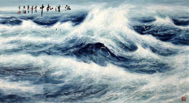 Chinese Sea Painting,97cm x 180cm,1119005-x