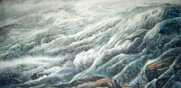 Chinese Sea Painting,120cm x 240cm,1332002-x