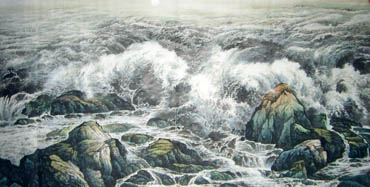 Chinese Sea Painting,120cm x 240cm,1332003-x