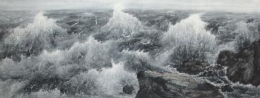 Chinese Sea Painting,70cm x 180cm,lh11083009-x
