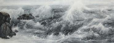 Chinese Sea Painting,70cm x 180cm,lh11083010-x