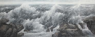 Chinese Sea Painting,70cm x 180cm,lh11083012-x