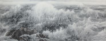 Chinese Sea Painting,70cm x 180cm,lh11083015-x