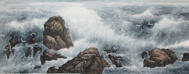Chinese Sea Painting,70cm x 180cm,lh11083016-x