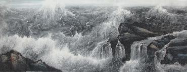 Chinese Sea Painting,70cm x 180cm,lh11083017-x