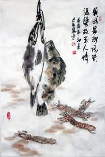Chinese Shrimp Painting,69cm x 46cm,2360006-x