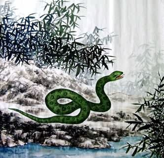 Chinese Snake Painting,69cm x 69cm,4449032-x