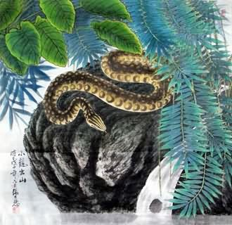 Chinese Snake Painting,69cm x 69cm,4721027-x