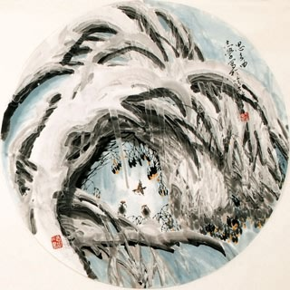 Chinese Snow Painting,66cm x 66cm,1056011-x