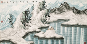 Chinese Snow Painting,66cm x 136cm,1056014-x