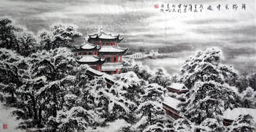 Chinese Snow Painting,69cm x 138cm,1165004-x