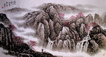 Chinese Snow Painting,66cm x 136cm,1167003-x