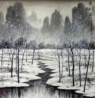 Chinese Snow Painting,50cm x 50cm,1168002-x